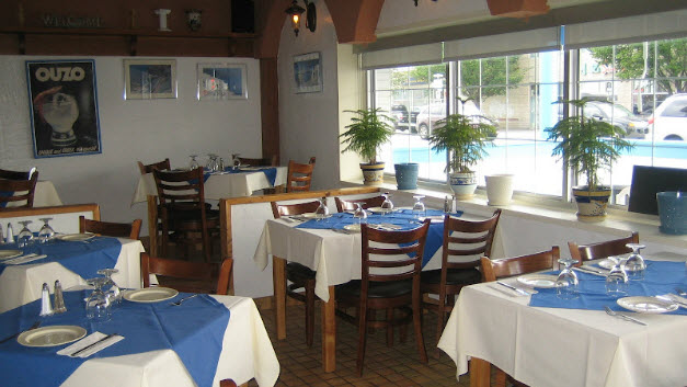 Affordable seating helps santorini greek taverna to update for Affordable furniture calgary
